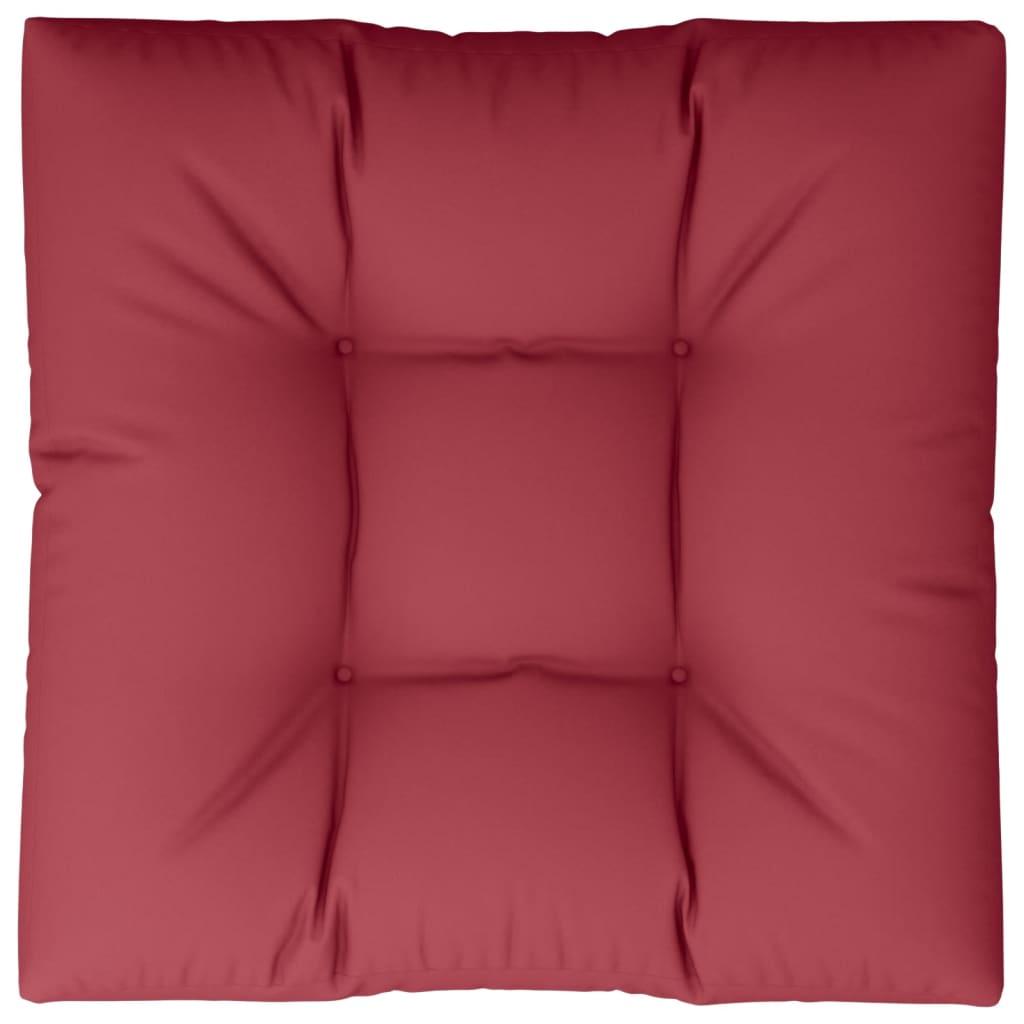 Vínově červený čalouněný sedák 80 x 80 x 10 cm