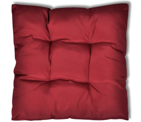 Upholstered Seat Cushion 80 x 80 x 10 cm Wine Red[2/4]