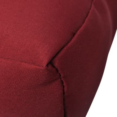 Upholstered Seat Cushion 80 x 80 x 10 cm Wine Red[4/4]