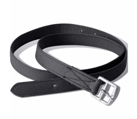"vidaXL Horse Riding Saddle Set 16"" Real Leather Black 5.5"" 5-in-1[6/10]"