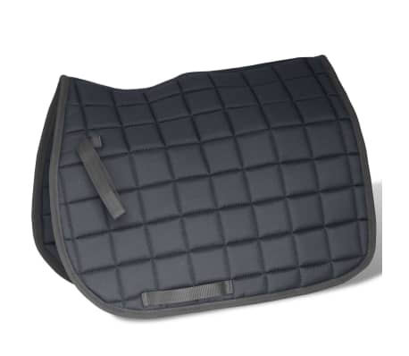 "vidaXL Horse Riding Saddle Set 17.5"" Real leather Black 4.7"" 5-in-1[4/10]"