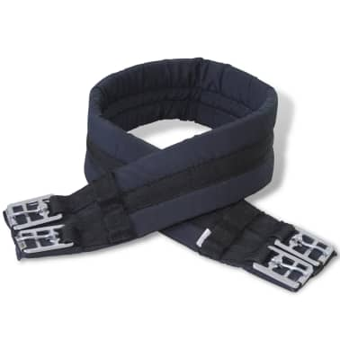"vidaXL Horse Riding Saddle Set 17.5"" Real leather Black 4.7"" 5-in-1[7/10]"