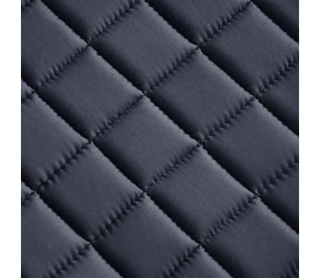 "vidaXL Horse Riding Saddle Set 17.5"" Real Leather Black 7.1"" 5-in-1[10/10]"