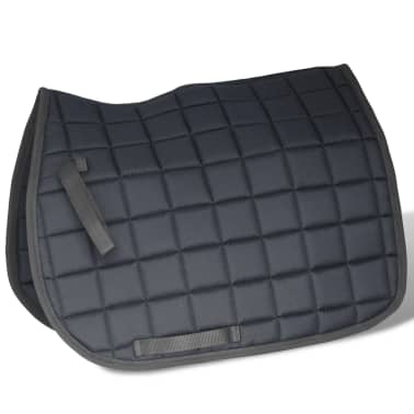 "vidaXL Horse Riding Saddle Set 17.5"" Real Leather Black 7.1"" 5-in-1[4/10]"