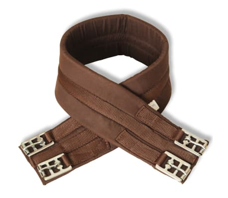 "vidaXL Horse Riding Saddle Set 16"" Real Leather Brown 5.5"" 5-in-1[5/10]"
