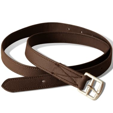 "vidaXL Horse Riding Saddle Set 16"" Real Leather Brown 5.5"" 5-in-1[4/10]"
