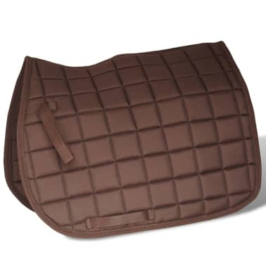 "vidaXL Horse Riding Saddle Set 17.5"" Real leather Brown 4.7"" 5-in-1[4/10]"