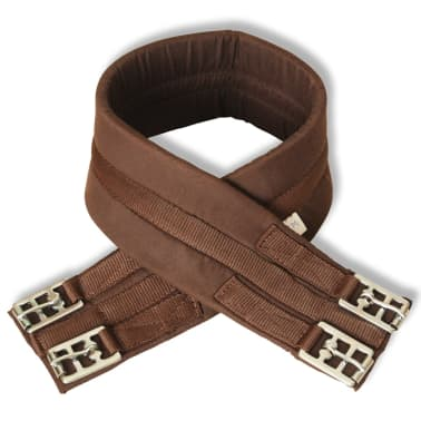 "vidaXL Horse Riding Saddle Set 17.5"" Real leather Brown 4.7"" 5-in-1[7/10]"