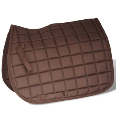 "vidaXL Horse Riding Saddle Set 17.5"" Real Leather Brown 7.1"" 5-in-1[4/10]"