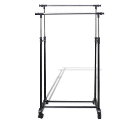 vidaXL Perchero ajustable para ropa 2 barras 2 unidades[2/7]
