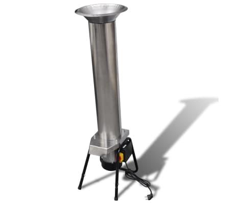 Broyeur de fruit électrique coloris argent en acier au carbone