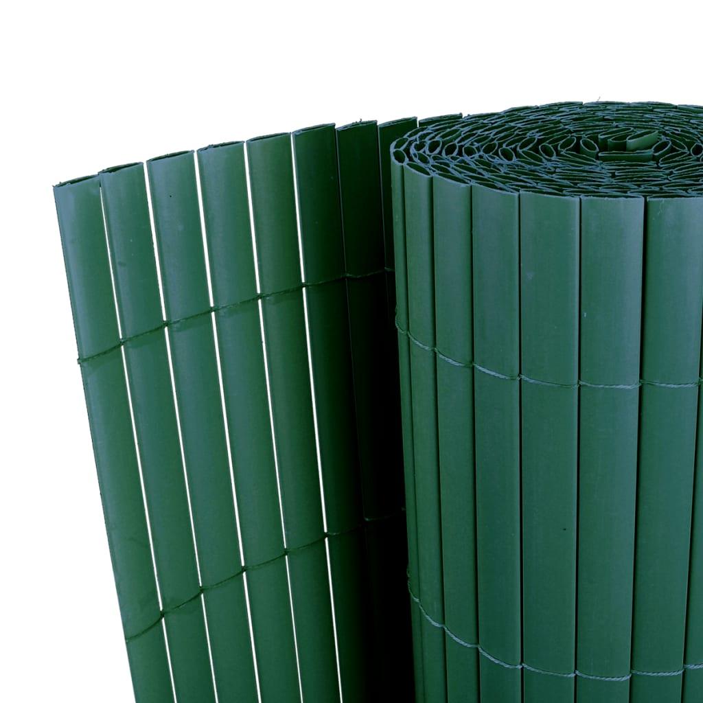 Zahradní plot zelený 90 x 300 cm z PVC, oboustranný, lišty 12 mm