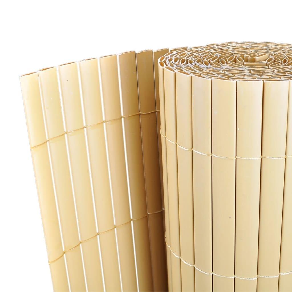 Zahradní plot žlutý 150 x 500 cm z PVC, oboustranný, lišty 12 mm