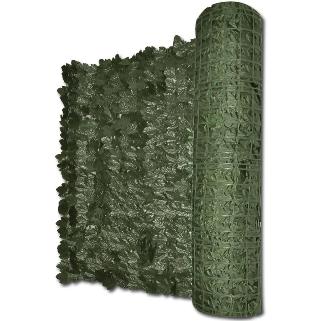 Plot z umělých břečťanových listů 300 x 100 cm zelený