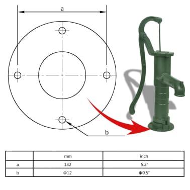 vidaXL Gårdspump med stativ gjutjärn[7/11]
