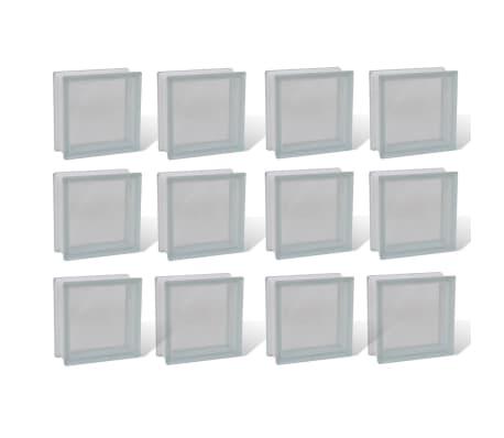 Bloque de vidrio, diseño liso, 12 unidades[1/4]