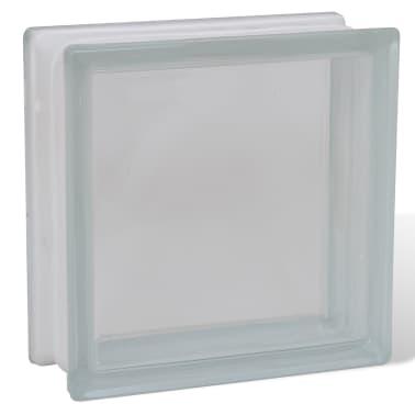 Bloque de vidrio, diseño liso, 12 unidades[3/4]