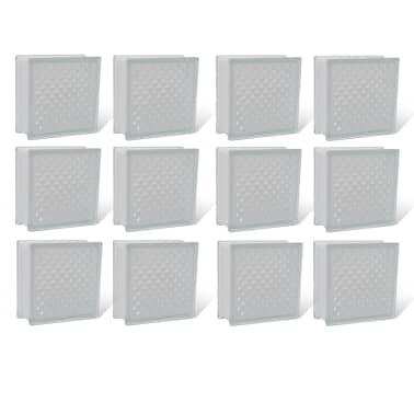 Bloque de vidrio, diseño de rombos, 12 unidades[1/4]