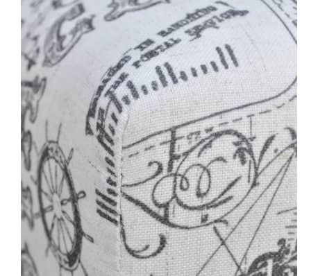 Stool Footrest Ottoman Patterned Square 80 x 80 x 38,5 cm[4/4]