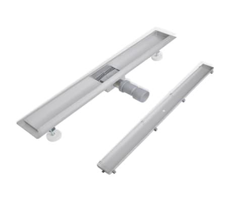 acheter caniveau de douche en acier inox 840 x 110 mm pas cher. Black Bedroom Furniture Sets. Home Design Ideas