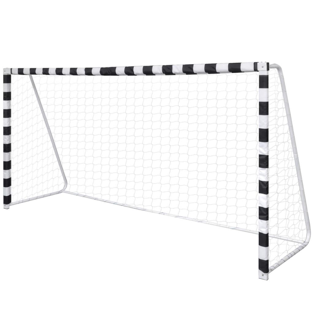 Poartă de fotbal din oțel cu plasă pentru activități în aer liber imagine vidaxl.ro