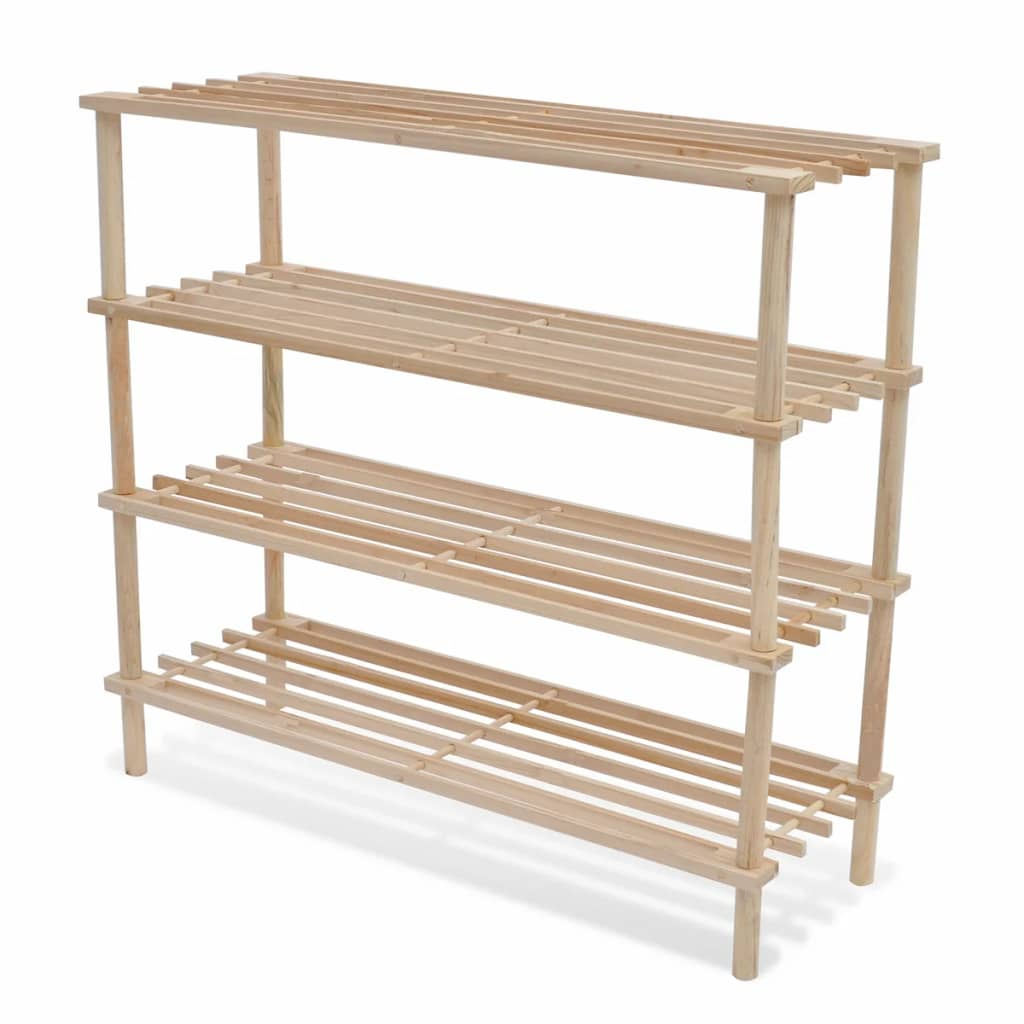 Wooden 2 3 4 5 Tiers Shoe Rack Shelf Storage Stand Holder