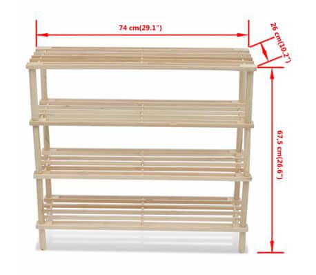 Dřevěné botníky se 4 policemi, 2 ks[5/5]