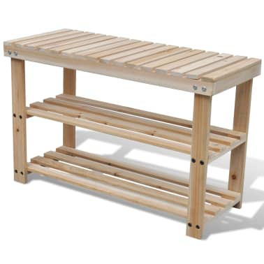 Vidaxl 2 In 1 Wooden Shoe Rack With Bench Top Durable Vidaxlcomau