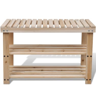 2-in-1 Wooden Shoe Rack With Bench Top Durable[2/3]