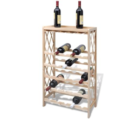 vidaXL Wine Rack for 25 Bottles Wood[1/4]