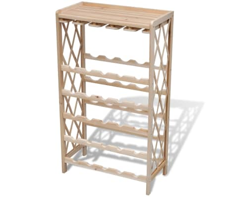 vidaXL Wine Rack for 25 Bottles Wood[2/4]
