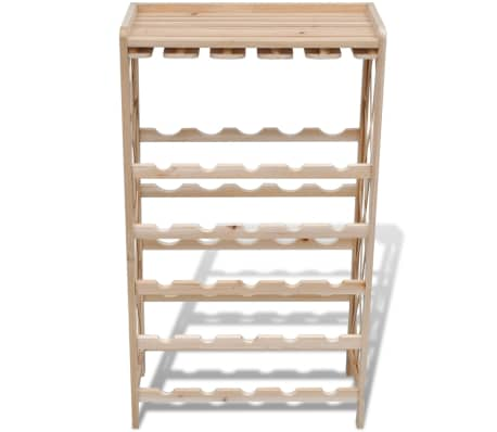 vidaXL Wine Rack for 25 Bottles Wood[3/4]
