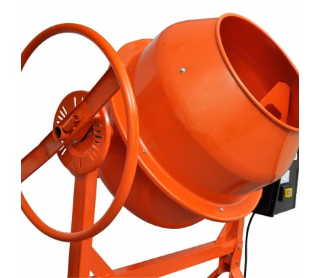 vidaXL Cementblandare 140 L 650 W stål orange[3/5]