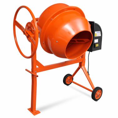 vidaXL Cementblandare 140 L 650 W stål orange[2/5]