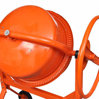 vidaXL Cementblandare 140 L 650 W stål orange[4/5]