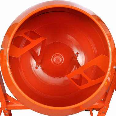 vidaXL Cementblandare 140 L 650 W stål orange[5/5]