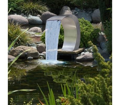 Garten wasserfall brunnen aus edelstahl 450 x 300 x 600 cm g nstig kaufen for Brunnen wasserfall garten