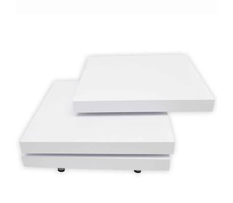 vidaXL Coffee Table 3 Tiers High Gloss White[7/8]