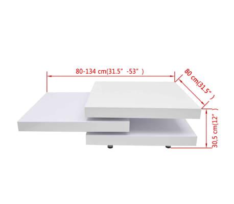 vidaXL Coffee Table 3 Tiers High Gloss White[8/8]