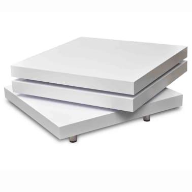 vidaXL Coffee Table 3 Tiers High Gloss White[4/8]