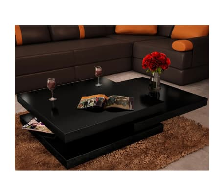 Coffee Table Extendable.Details About New Modern Coffee Table High Gloss Finish Black 3 Layers Extendable Living Room