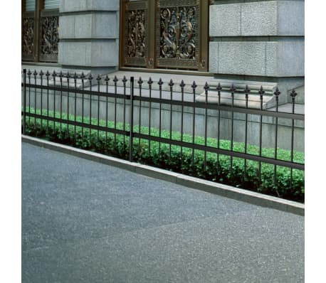 Ornamental Security Palisade Fence Steel Black Pointed Top 2'[1/5]