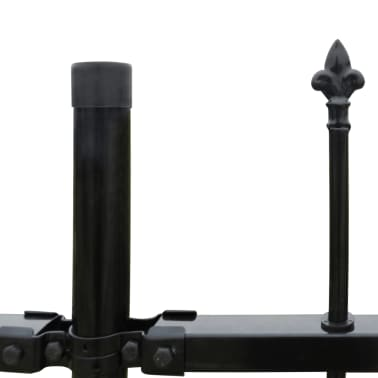 Ornamental Security Palisade Fence Steel Black Pointed Top 2