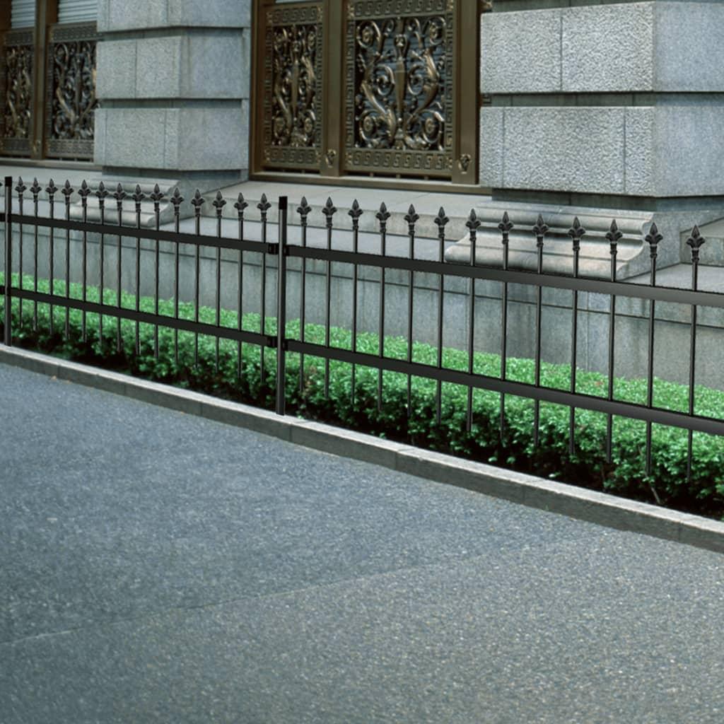 vidaxl-ornamental-security-palisade-fence-steel-black-pointed-top-80-c