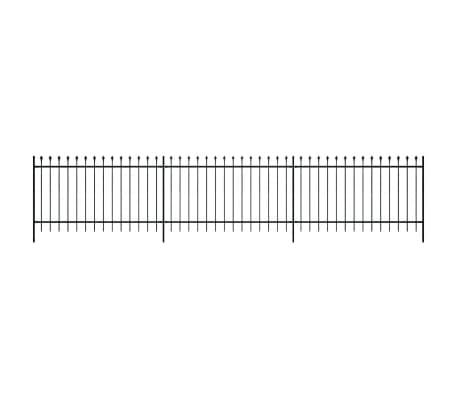 Clôture ornementale de sécurité en acier noir 120 cm[2/5]