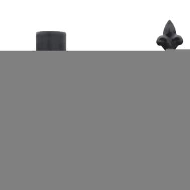 Clôture ornementale de sécurité en acier noir 120 cm[4/5]