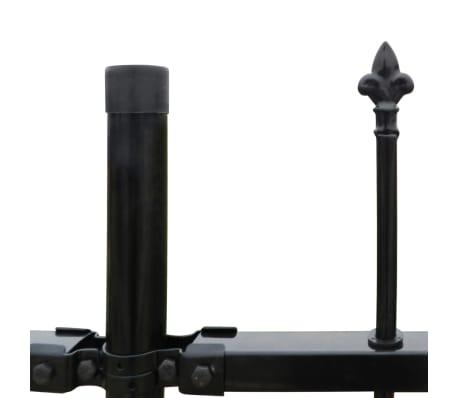 "Ornamental Security Palisade Fence Steel Black Pointed Top 4' 11""[3/5]"