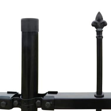 Ornamental Security Palisade Fence Steel Black Pointed Top 4