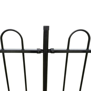 vidaXL Ornamental Security Palisade Fence Steel Black Hoop Top 80 cm[3/5]