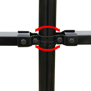 vidaXL Ornamental Security Palisade Fence Steel Black Hoop Top 80 cm[4/5]
